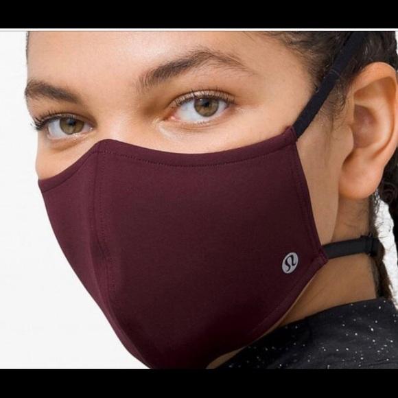 Lululemon burgundy face mask